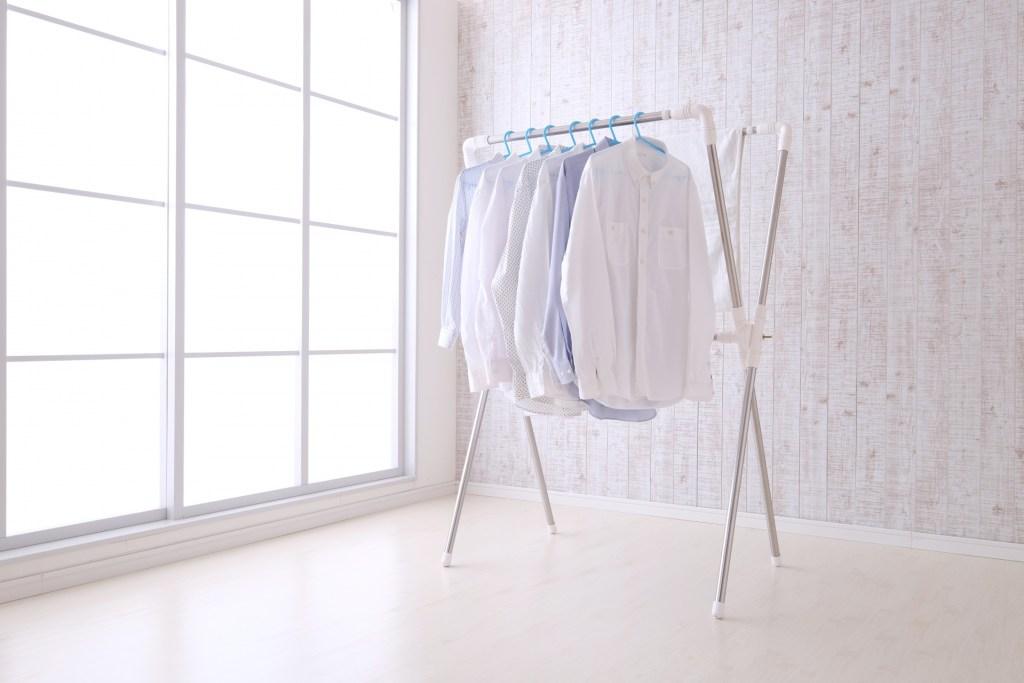 一人暮らし 梅雨 洗濯物 部屋干し