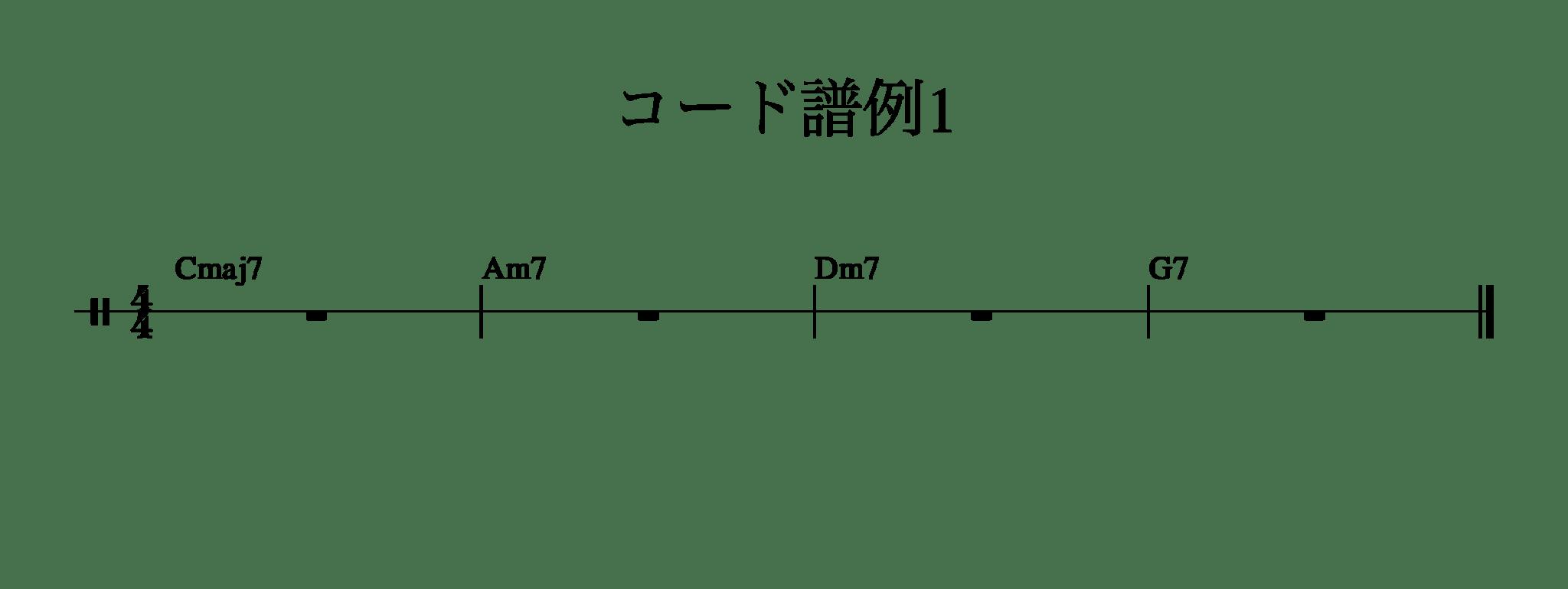 コード譜例1(C1625)-1