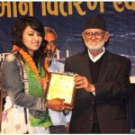 Jharana Thapa honored by Nepal Sanskritik Sangh