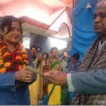 Rekha Thapa honored at Bal Jagriti College - Donated Rs. 50K to disabled students