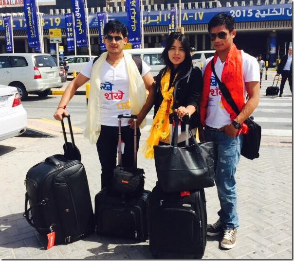 Chankhe Shankhe Pankhe team flies to Bahrain for premier show