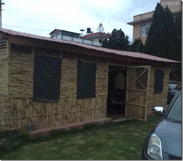 Karishma Manandhar is earthquake ready - a temporary residence like a film set