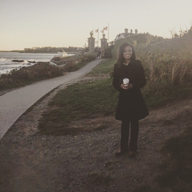 Recent trip to Newport, Rhode Island on a crisp, autumn day-- one of the first of the season. This taken outside of the storied Vanderbilt mansion, also called The Breakers. In that moment, with the waves crashing below me and warm cup of apple-cinnamon tea in hand, I felt really good. It's the little things, right?