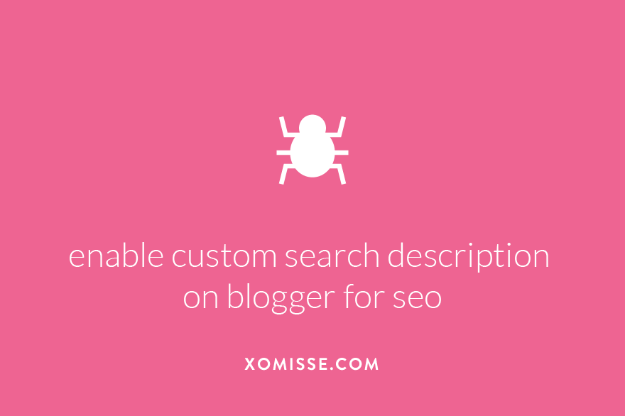 how to enable search meta description on Blogger for search engine optimisation (SEO) to increase page views and blog traffic.