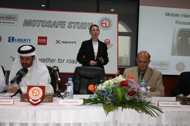 Conducting Road Safety seminar in Dubai for Motorola - 2008