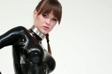latex catsuits with hoods