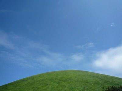 青空と大室山