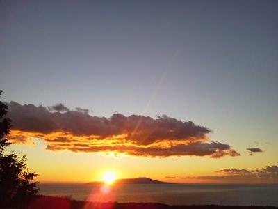 大室山から見た日の出