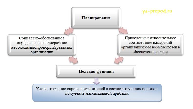 Сущность функции планирования