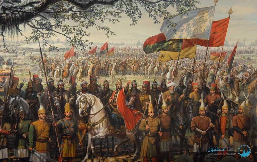 رسمة توضح القائد محمد الفائح خلال المعركة