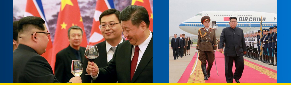 North Korean leader Kim Jong-un is welcomed in Beijing by Chinese President Xi Jinping, and a loaned Chinese aircraft carried Kim back to Pyongyang from the summit in Singapore