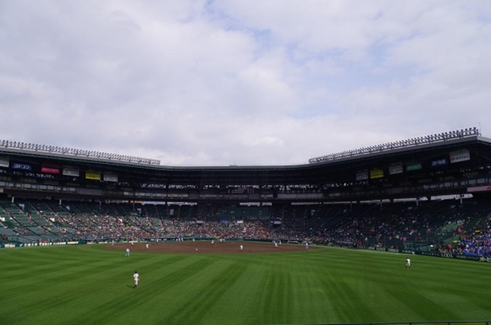 甲子園球場試合中