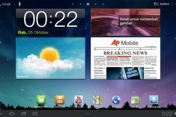 Samsung Galaxy Tab homescreen