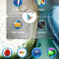 screenshot home screen lenovo a390 1
