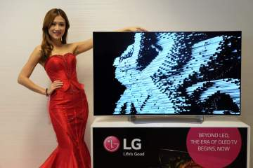 lg oled tv launch