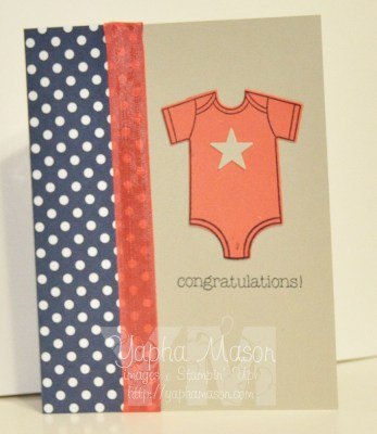 Night of Navy Baby Card by Yapha