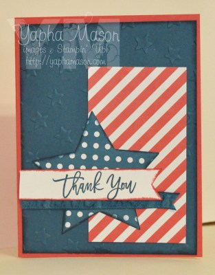 Patriotic Thank You Note by Yapha