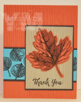 Fall Leaf Thank You by Yapha