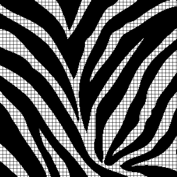 Zebra Print (Chart/Graph AND Row-by-Row Written Crochet Instructions) - 02 - ...