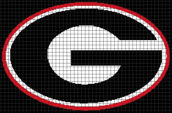 Georgia Afghan Knitting Pattern : University of Georgia (Graph AND Row-by-Row Written ...