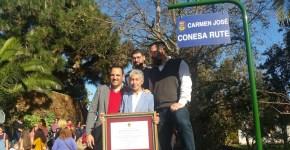 Carmen José Conesa Rute ya tiene una calle en la Villa de Breña Alta