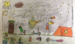 Valeria García Arriaga, del Colegio Sagrada Familia, ganadora del concurso de dibujos infantiles Astrofest 2018