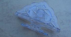 Oferta, Se vende servilletero de cristal de Bohemia en perfecto estado.