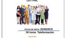 CURSO PREVENCIÓN DE RIESGOS LABORALES. LEY PRL