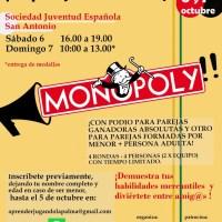 Por primera vez en la historia, Primer Torneo de Monopoly Canarias por parejas
