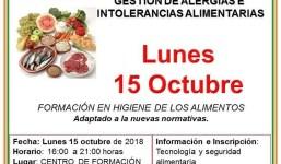 Manipulador de Alimentos y Gestión de Ingredientes Alérgenos e Intolerancias Alimentarias