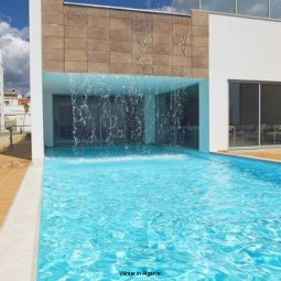 Luxury apartment with swimming pool in pedestrian Fuseta Resort, Algarve