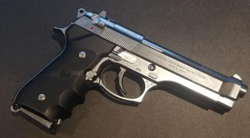 """Tokyo Marui M92fs Stainless Chrome """"Tactical Master"""" GBB"""