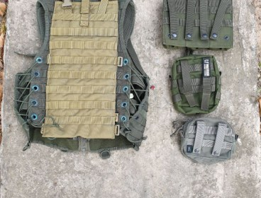 OD Green Battle Jacket and pouches