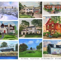 Portraits of homes by local artist, Ron Ramsey