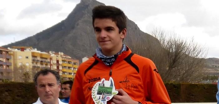 Ortuño, en un podio durante esta temporada / Archivo