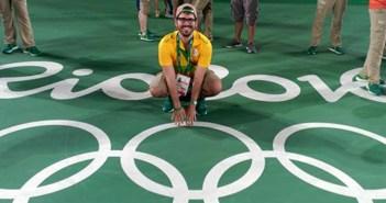 El yeclano Alberto Yago, en la pista de tenis de Río 2016