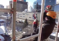 Zipline Across Churchill Square