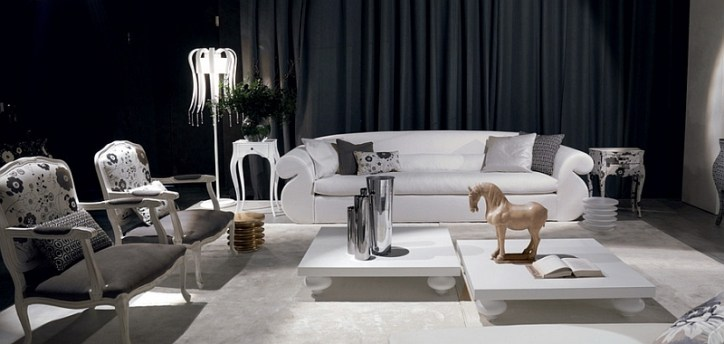 Exquisite-black-and-white-living-room-with-sculptural-additions