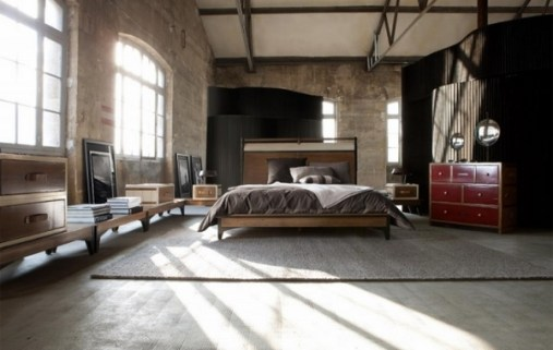 rustic-bedroom-design-ideas-brown-gray-high-ceiling