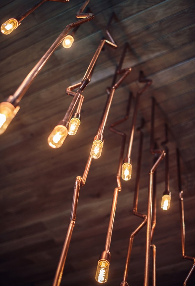 copper chandelier