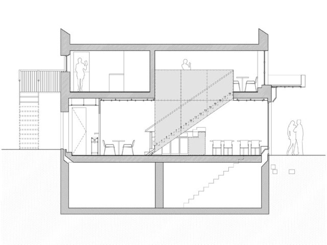 PNY restaurant drawing - section