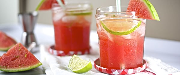 Watermelon grasshoper cocktail, cold and refreshing summer drink!