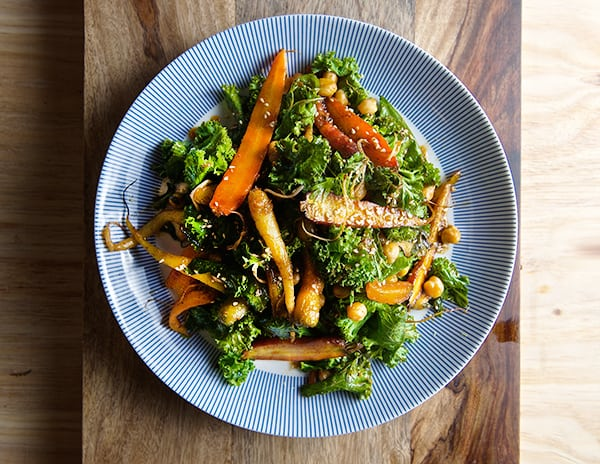 Roasted-Carrot-Salad-with-Hummus-Vinaigrette-~Yes,-more-please!