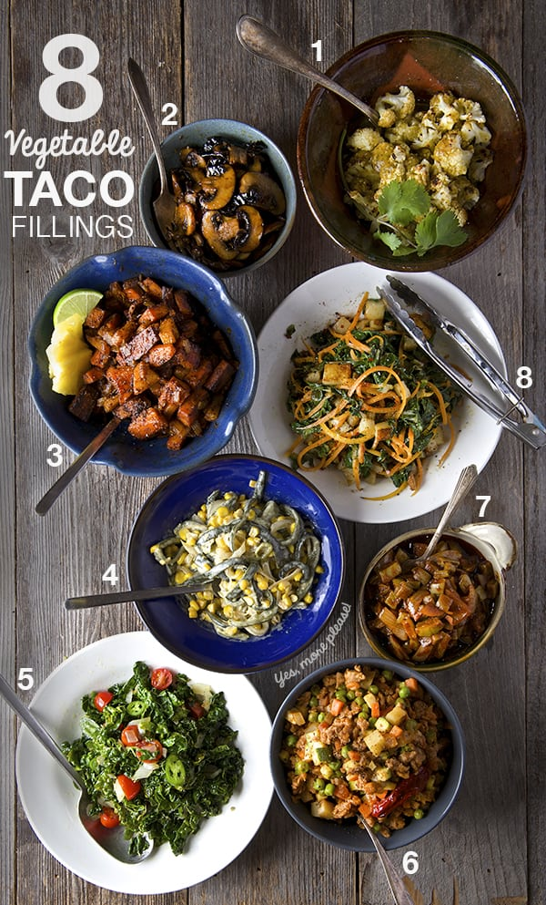 Vegetable Taco Fillings_Ideas_ recipes _Yes, more please!
