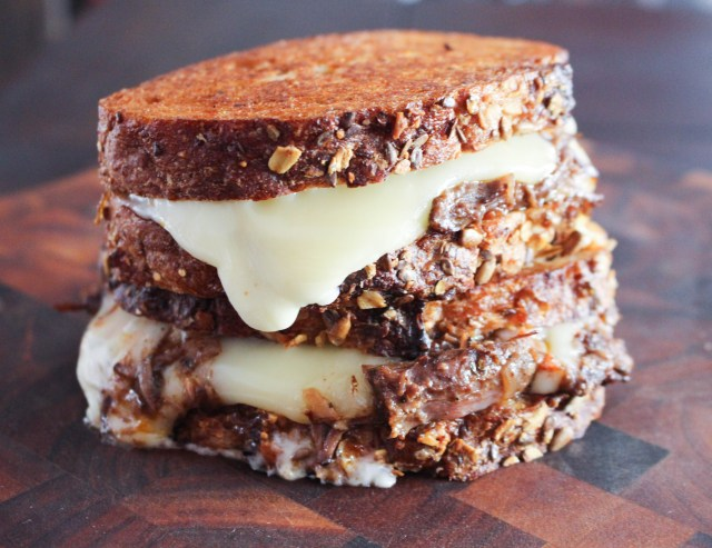 Fontina Grilled Cheese with Braised Short Rib & Brandied Fig Jam | Yes to Yolks