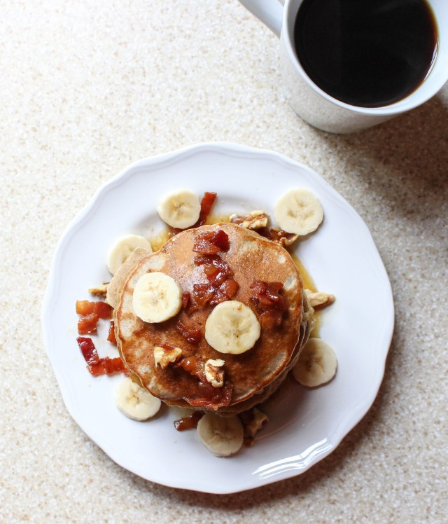 ... - Serve With Maple Syrup Peanut Butter Bananas Blueberries Whatever