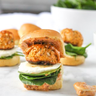 Chicken Meatball Sliders with Sundried Tomato Aioli - the perfect Super Bowl slider!   @yestoyolks.com