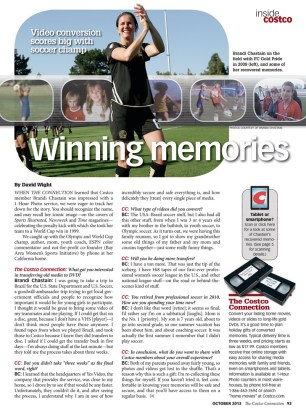 Winning Memories article in The Costco Connection