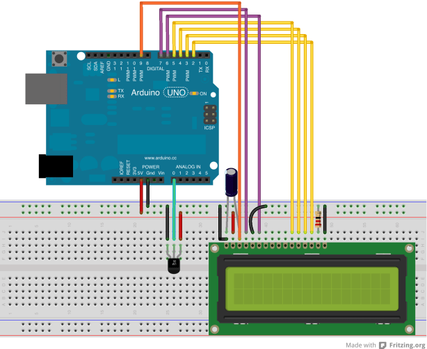 Arduino projects no temperature sensor displayed on lcd