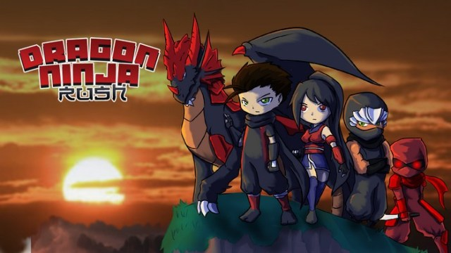 Dragon Ninja Rush 2D endless running game infinite runner